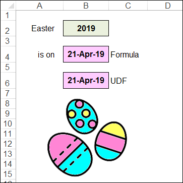 Excel Easter Dates and IP Addresses