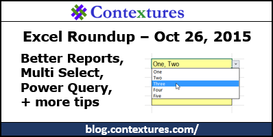 Excel Roundup 20151026 – Contextures Blog