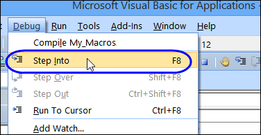 Excel VBA Problem With Step Into F8 – Contextures Blog