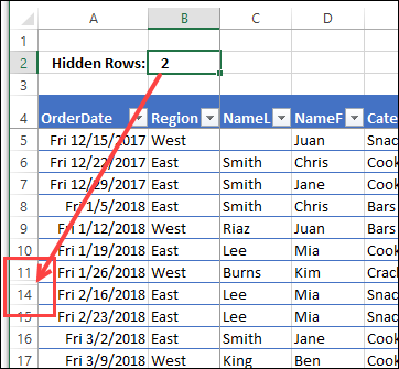 Excel Hidden Data Warning