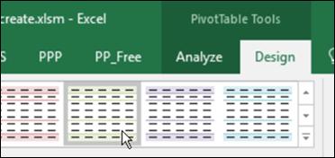 create a quick pivot table