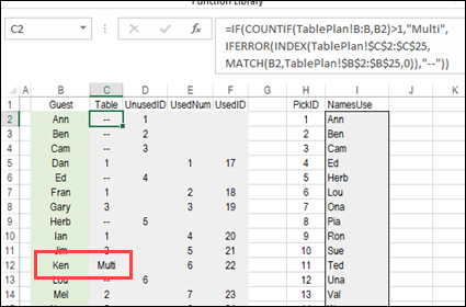 Excel Seating Plan with Charts – Contextures Blog
