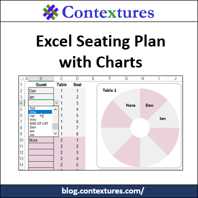 Excel Seating Plan with Charts