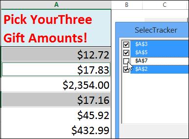 Excel SelecTracker add-in