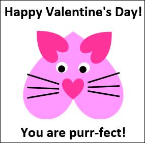 Excel Valentine Cards  Cat http://blog.contextures.com/
