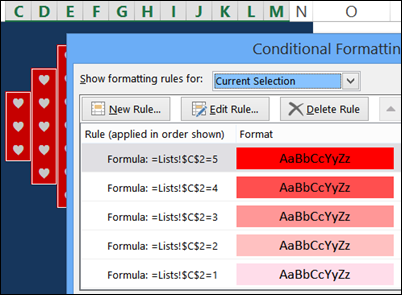 conditional formatting hearts http://blog.contextures.com/