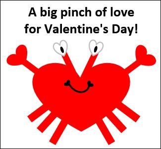 Excel Valentine Cards Crab http://blog.contextures.com/