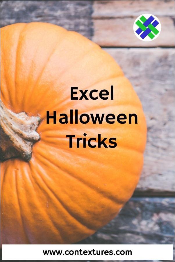 Excel Halloween Tricks on Contextures Blog