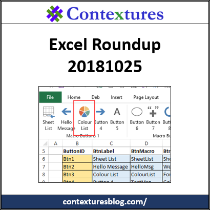 Excel Roundup 20181025