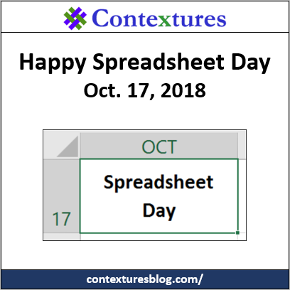 Happy Spreadsheet Day 2018