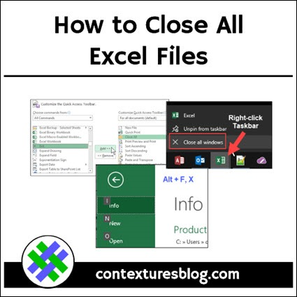 How to Close All Excel Files