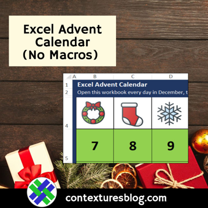 Excel Advent Calendar No Macros