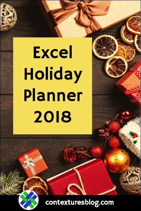 Excel Holiday Planner 2018