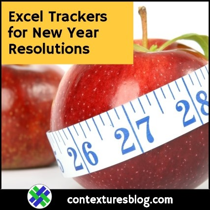 Excel Trackers for New Year Resolutions