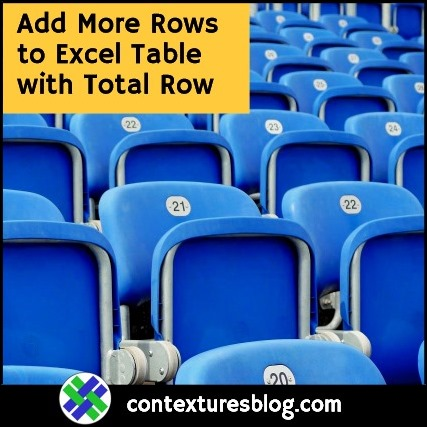 Add Data to Excel Table with Total Row