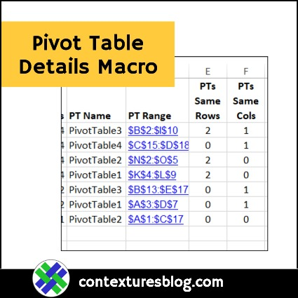 Pivot Table Details Macro