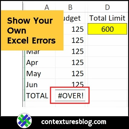 Show Your Own Excel Formula Error Values