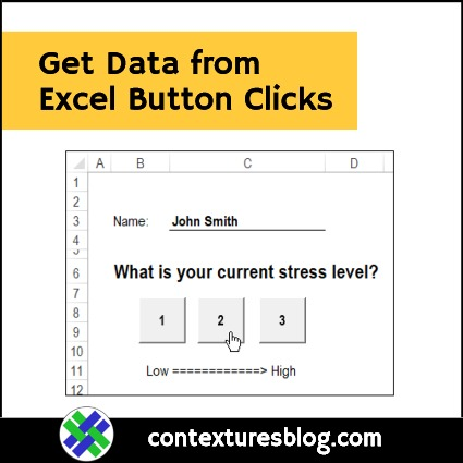 Get Data from Excel Button Clicks