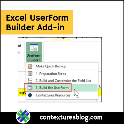 Excel UserForm Builder Add-in