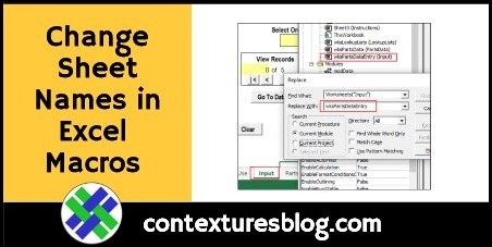 Change Sheet Names in Excel Macro Code