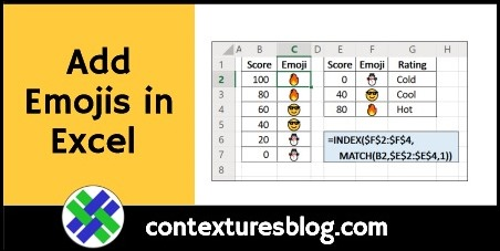 Add Emojis in Excel