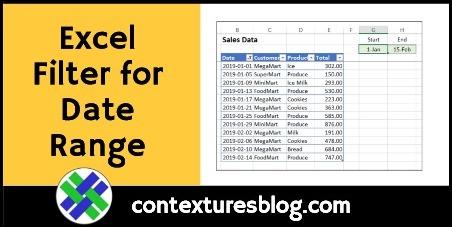 Excel Filter for Date Range