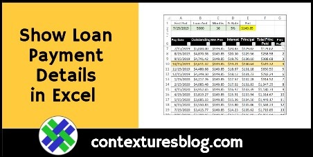 Show Loan Payments in Excel with PMT and IPMT
