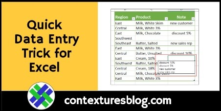 Quick Data Entry Trick for Excel