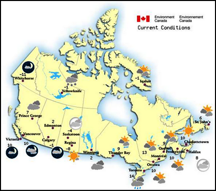 Excel Conditional Formatting for Weather Data - Contextures Blog on canada weather forecast map, los angeles temperature map, world temperature map, canada wind map, canada weather today, canada weather radar, north america climate map, canada climate map, 2014 us winter temperature map, canada weather 14-day, vancouver temperature map, canada rainfall map, weather network satellite map, weather temp map, british columbia temperature map, canada winter climate, canada humidity map, united states by average temperature map, weather ontario canada map, forecast temperature map,