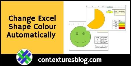 Change Excel Shape Colour Automatically