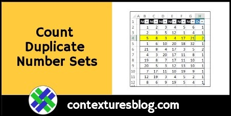 Count Duplicate Number Sets