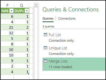Power Query to Count Duplicate Number Sets