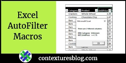 Excel AutoFilter Macros