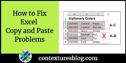 How to Fix Excel Copy and Paste Problems