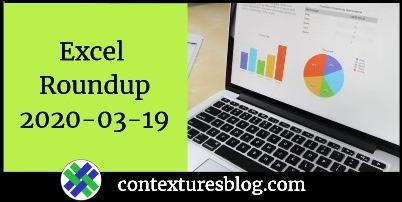 Excel Roundup 20200319