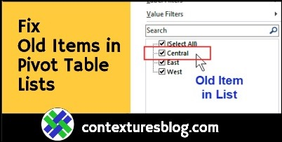 Clear Old Items from Pivot Table Drop Downs