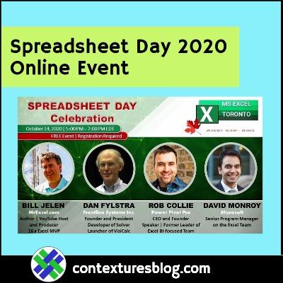 Spreadsheet Day 2020 Online Celebration