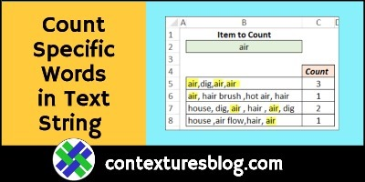 Count Specific Words in Text String